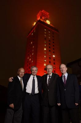 Tower lit for AMS, Wolf Prize Awardees